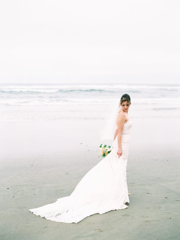 Beautiful bride on the beach.