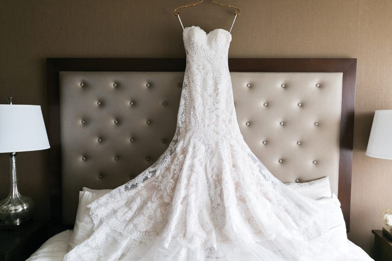 Wedding dress at the Stephanie Inn.