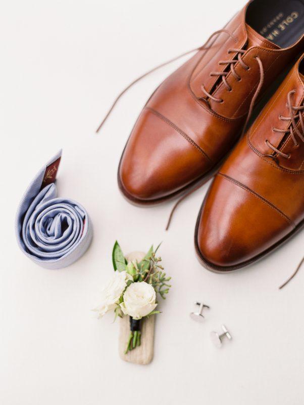 Wedding attire details.